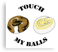 Ball Python T-shirt - Touch Canvas Print