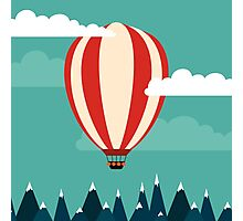Hot air ballon illustration Photographic Print