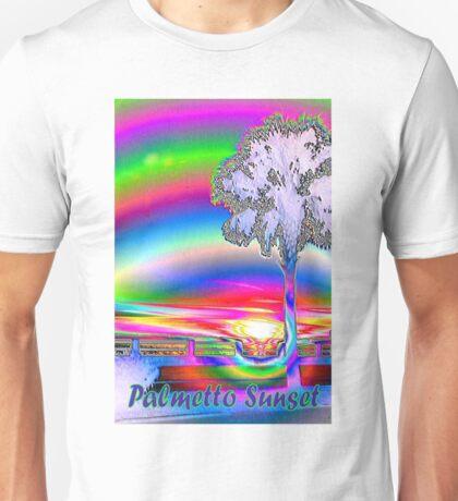 Palmetto rainbow sunset 3 Unisex T-Shirt