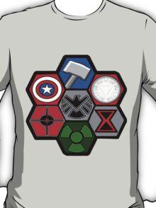 Avengers Assemble - Minimal Comic Hero Logo T-Shirt