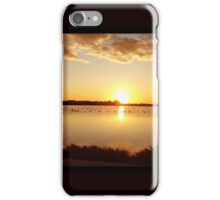 Sunset at Salt lake Larnaca  iPhone Case/Skin