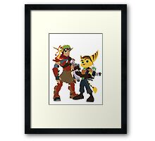 A Boy and His Lombax Framed Print