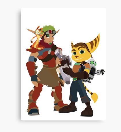 A Boy and His Lombax Canvas Print