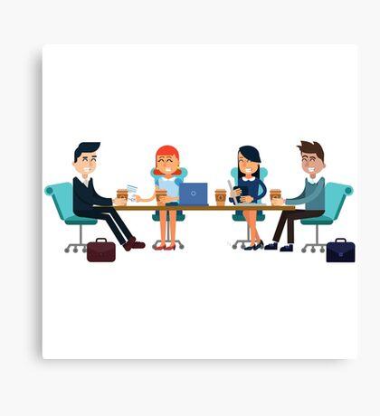 Horizontal Banners Business Meeting, Teamwork, Development Canvas Print