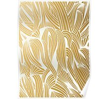 Gold & White Pattern Poster