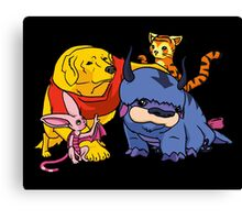 Naga the Poohlar Bear Dog & Friends Canvas Print