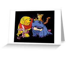 Naga the Poohlar Bear Dog & Friends Greeting Card
