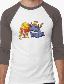 Naga the Poohlar Bear Dog & Friends Men's Baseball ¾ T-Shirt