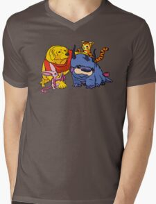 Naga the Poohlar Bear Dog & Friends Mens V-Neck T-Shirt