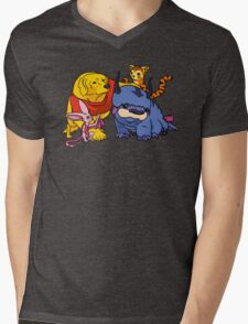 Naga the Poohlar Bear Dog & Friends Mens V-Neck T-Shirt