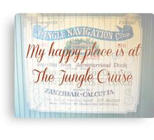 My Happy Place is at The Jungle Cruise Metal Print