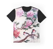 Peonies and shallows Watercolor Graphic T-Shirt