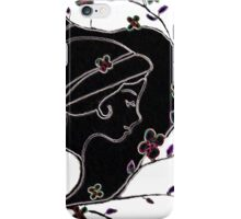 Young girl in a hat iPhone Case/Skin
