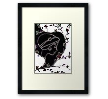 Young girl in a hat Framed Print