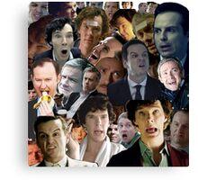 Sherlock Collage Canvas Print