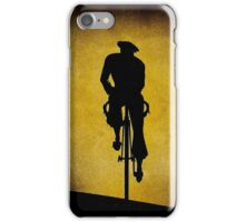 SILHOUETTE CYCLIST; Vintage Bicycle Riding Print iPhone Case/Skin