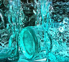 Turquoise Ice  by Larry Lingard-Davis