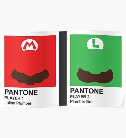 Super Pantone Bros.  Poster