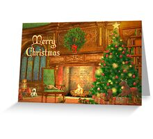 Fireplace Christmas Card - Merry Christmas Greeting Card