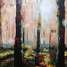 Abstract Tree Forest Painting by Samuel Durkin