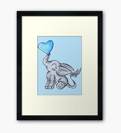 Heart for Baby (Boy) Framed Print