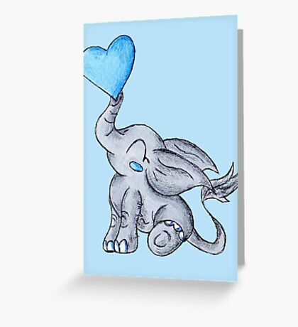 Heart for Baby (Boy) Greeting Card