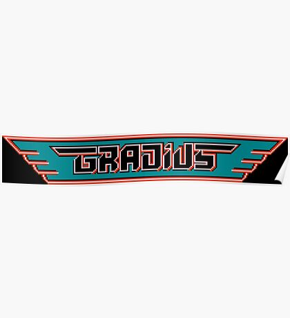 Gradius (NES Title Screen) Poster