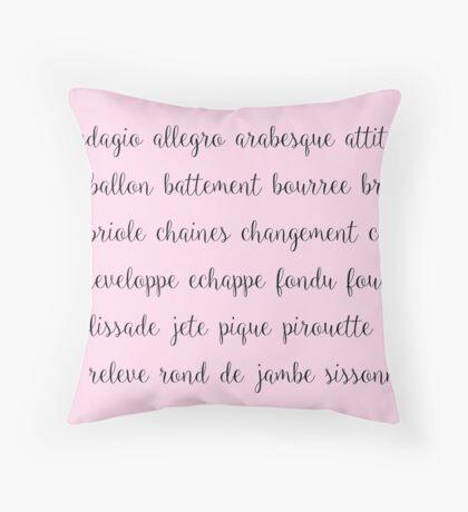 Ballet Bun-Head Vocab Throw Pillow