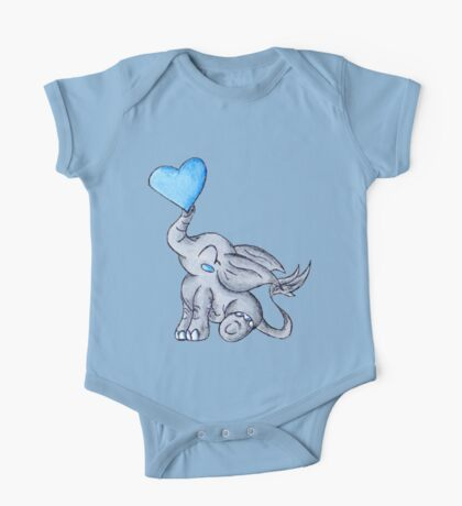 Heart for Baby (Boy) One Piece - Short Sleeve