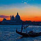 Italy. Venice. Santa Maria della Salute. Sunset. by vadim19
