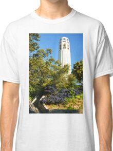 Coit Tower the Pinnacle of Telegraph Hill in San Francisco California Classic T-Shirt