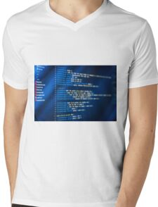 HTML and CSS code developing Mens V-Neck T-Shirt