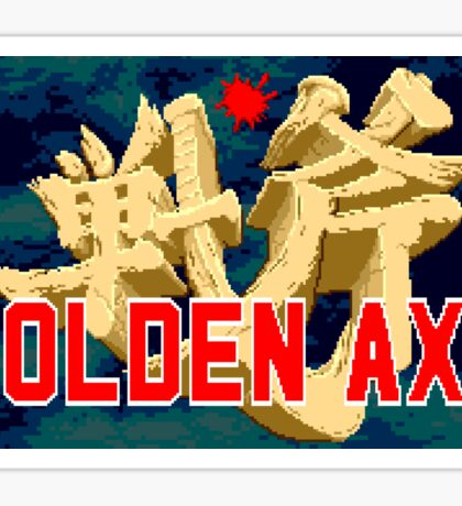 Golden Axe (Genesis Title Screen) Sticker