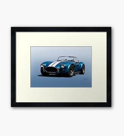 1966 Shelby Cobra 427 'Blue on Blue' Framed Print