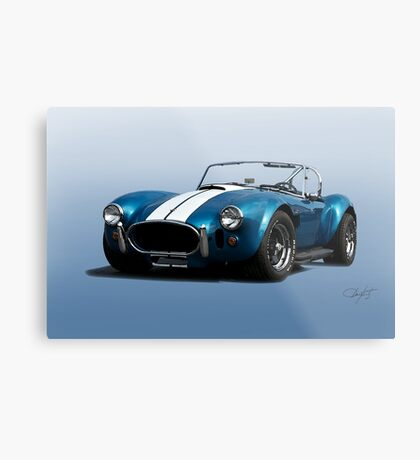 1966 Shelby Cobra 427 'Blue on Blue' Metal Print