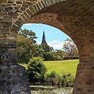 Richmond bridge and St Johns Church, Richmond, Tasmania by Pauline Tims