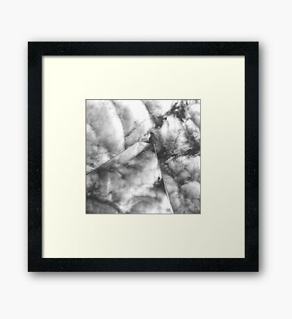 Cloud Reflections | @ag_exposed | #BlackandWhite Framed Print