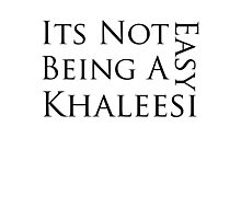 It's Not Easy Being a Khaleesi Photographic Print