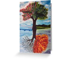 Four seasons flipped Greeting Card