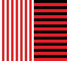 Black and White Stripes by ArtfulDoodler
