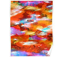 Sunset Clouds - Contemporary Digital Abstract Poster