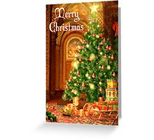 Tree and Presents Christmas Card - Merry Christmas Greeting Card