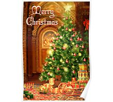 Tree and Presents Christmas Card - Merry Christmas Poster