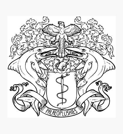 Palaeoplushies Shield Logo Photographic Print