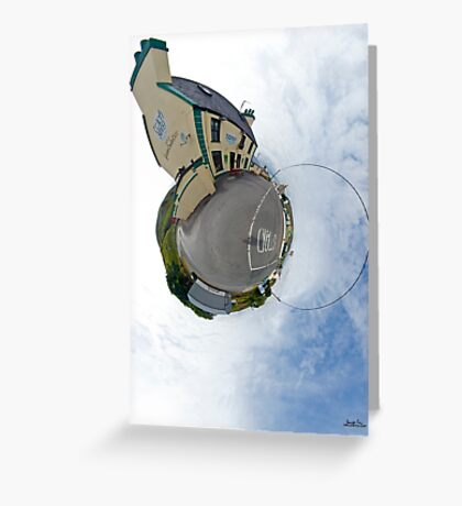 Biddy's House - the Crossroads Pub, Glencolmcille(Sky Out) Greeting Card