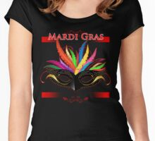 Mardi Gras Carnival Colorful New Orleans Celebration Wear Women's Fitted Scoop T-Shirt