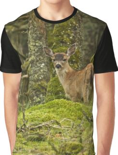 Baby Deer Photography Print Graphic T-Shirt