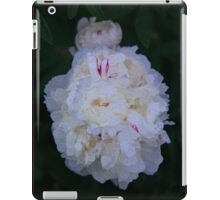 White Peony And Companion Abstract Flower Painting iPad Case/Skin