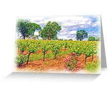 Vineyard Roses Greeting Card