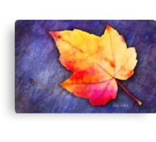 A Colorful Fall Memory Canvas Print